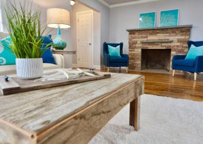 home staging sample living room